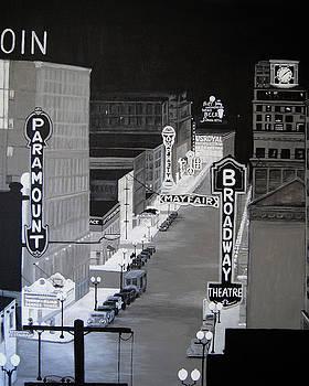 City Lights Broadway NY by Vallee Johnson