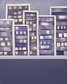 City Lights in Blue by Sandy Bostelman