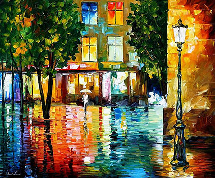 City Magic - PALETTE KNIFE Oil Painting On Canvas By Leonid Afremov by Leonid Afremov
