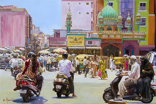 City market in Bangalore, India by Dominique Amendola