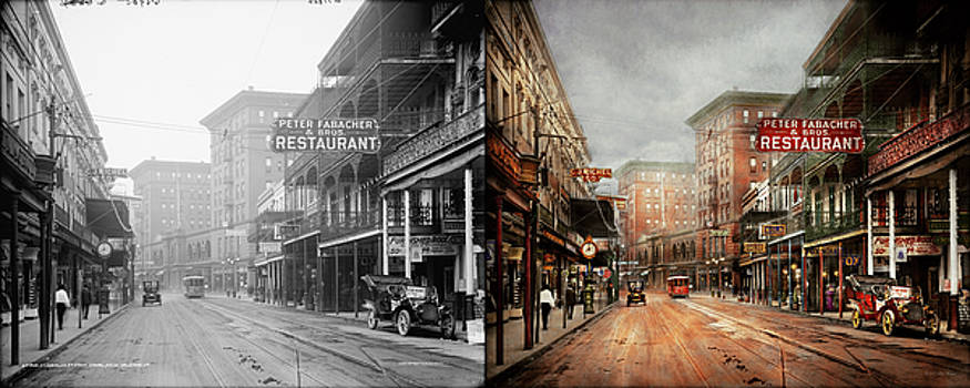City - New Orleans - A look at St Charles Ave 1910 - Side by Side by Mike Savad