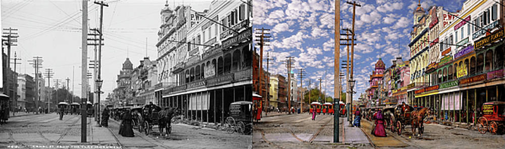 City - New Orleans - New Orleans the Victorian era 1887 - Side by Side by Mike Savad
