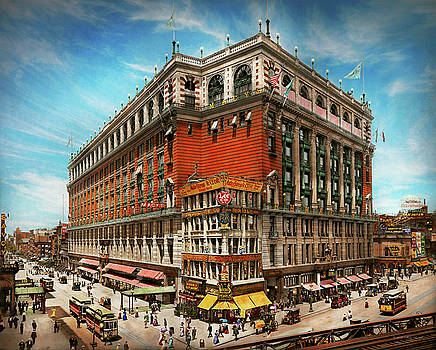 City - NY New York - The nation's largest dept store 1908 by Mike Savad