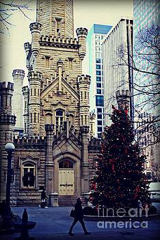 Frank J Casella - City of Chicago Old Water Tower Christmas