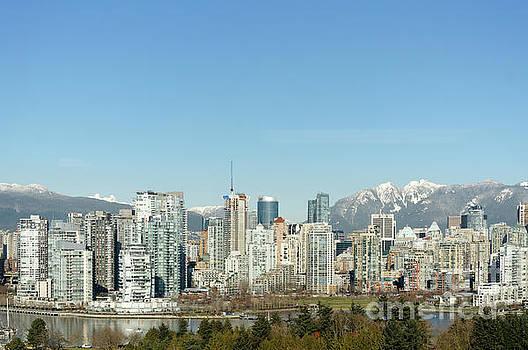 City of Glass Vancouver Skyline by John  Mitchell
