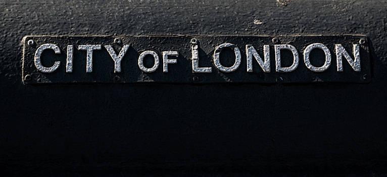 City of London inscription by Marius Comanescu