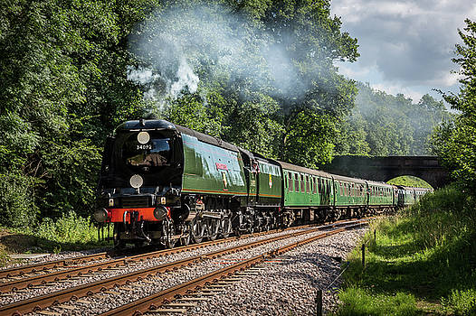 City of Wells on the Bluebell Railway by Antony Meadley
