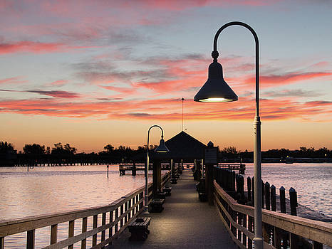 City Pier Bradenton Beach at Sunrise View 2 by Richard Goldman