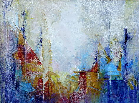 Cityscape -The Power Of The Pen by Jackie Langford