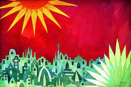 City under a Red Sky by Jennifer Baird
