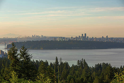 City View of Vancouver and Burnaby BC by David Gn