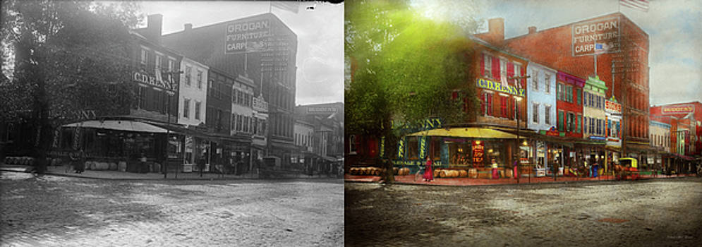 City - Washington DC - Life on 7th St 1912 - Side by Side by Mike Savad