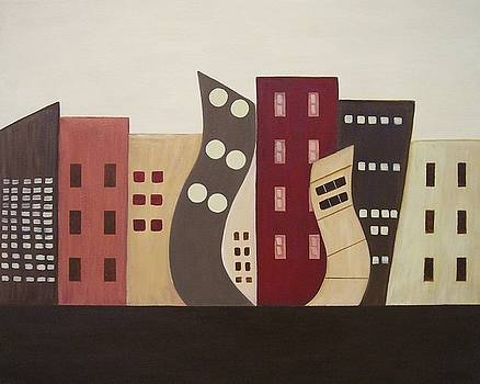 Cityscape On the Horizon 2 by Sandy Bostelman