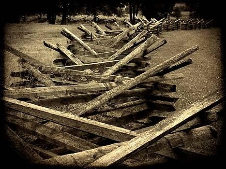 Civil War Fence by Michael L Kimble