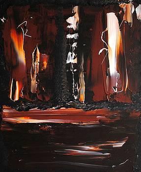 Ciy Lights Dark Night by John Johnson