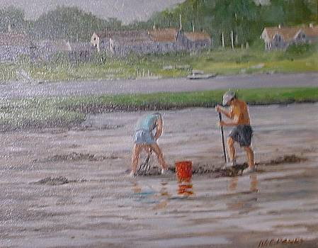 Clam Diggers by Perrys Fine Art