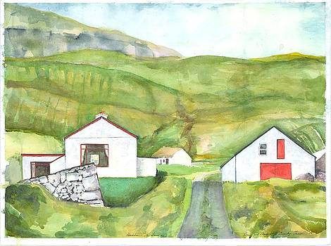 Clare Island Buildings by Kathleen Barnes