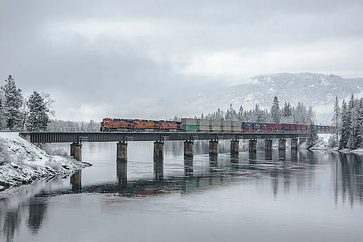 Clark Fork Crossing in Winter by Albert Seger