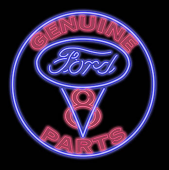 Ricky Barnard - Classic Ford V8 Neon Sign