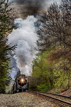 John Haldane - Class J 611 Steam Engine Approaching Black Mountain