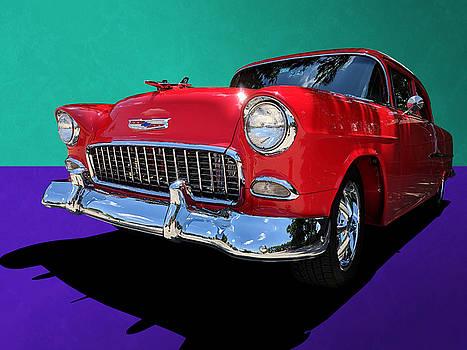 Classic 1950s Red Chevrolet Coupe by Debi Dalio