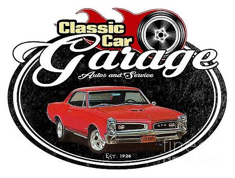 Classic Car Garage with GTO by Paul Kuras
