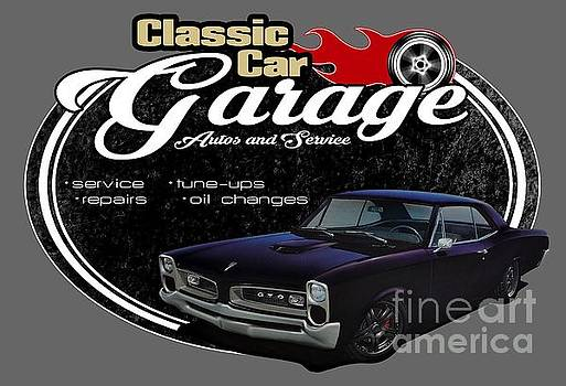 Classic Car Garage with Pontiac by Paul Kuras