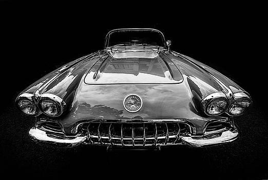 Classic Corvette in Black and White by Joy McAdams