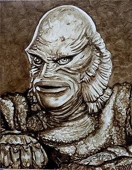 Classic Creature from the Black Lagoon by Al  Molina