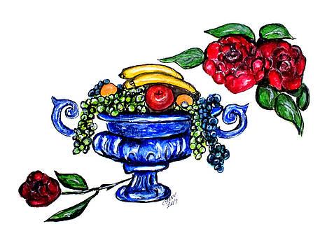 Classic Fruit Bowl Digital Enhanced by Clyde J Kell