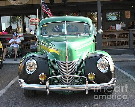 Classic Green Antique Ford by Dodie Ulery