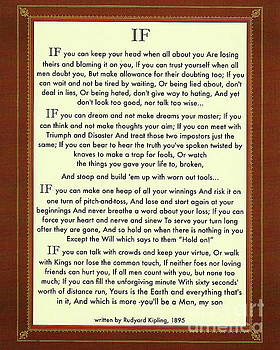 Classic IF Quote by Rudyard Kipling by Desiderata Gallery