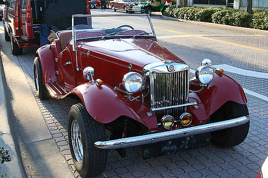 Classic MG Convertible by Carl Purcell