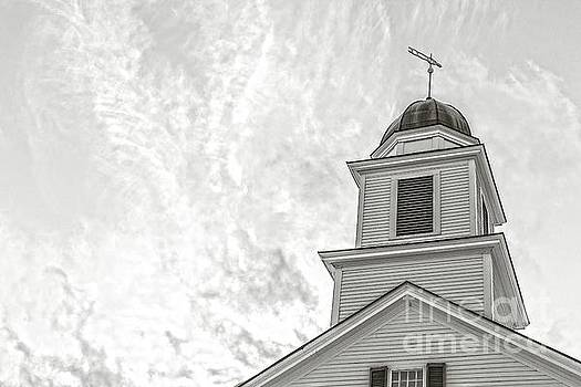 Classic New England Church Etna New Hampshire by Edward Fielding