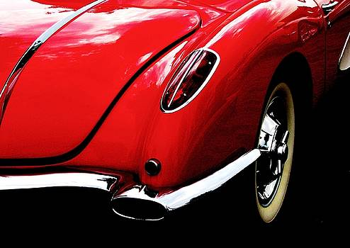 Classic Red Corvette by Angela Davies