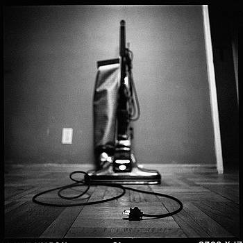Classic Vacuum and Cord in BW by YoPedro