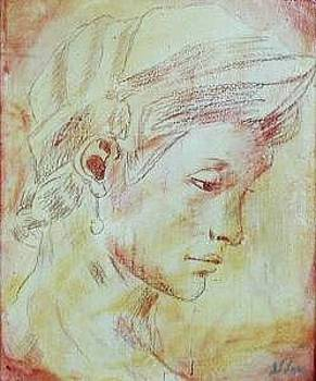 Classical Portrait   Inspired By Michelangelo  by Judy Loper