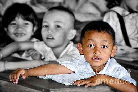 Classroom in Puthaong,Cambodia by Mirko Dabic