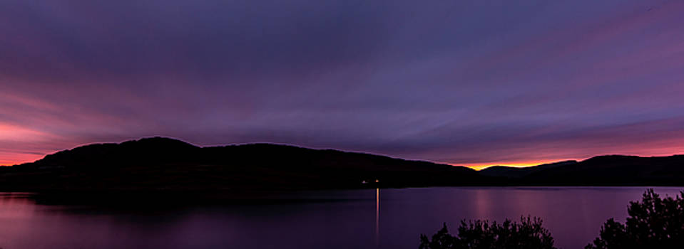 Clatteringshaws after sunset. by David Attenborough