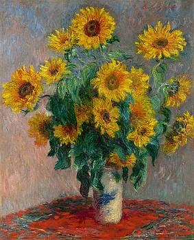 Claude Monet - Bouquet of Sunflowers by Bishopston Fine Art