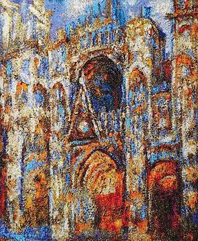 Rouen Cathedral Claude Monet  by Elena Soldatkina