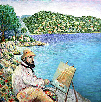 Claude Monet Painting in South of France by Andrew Osta
