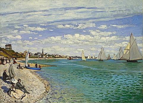Claude Monet - Regatta at Sainte Adrresse by Bishopston Fine Art