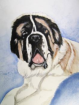 Claude the Saint Bernard by Carol Blackhurst