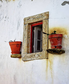 Clay Pots in a Portuguese Village by Marion McCristall