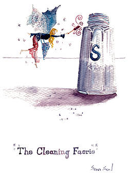 Cleaning Fairy Blue by Sean Seal