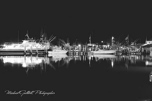 Clear Night at Montauk Harbor by Michael Gallitelli