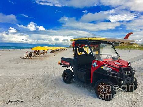 Clearwater Beach Lifeguard ATV by Jacqueline Faust
