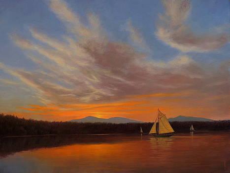 Clearwater's Sunset Voyage by Barry DeBaun