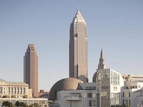 Cleveland From The Lake by Paul Duda